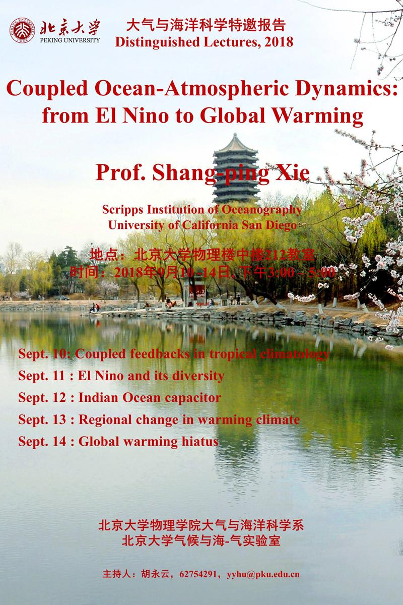 Coupled Ocean-Atmospheric Dynamics: from El Nino to Global